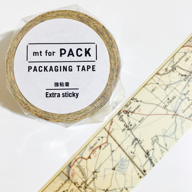 mt for PACK(強粘着) 地図・ヴィンテージ